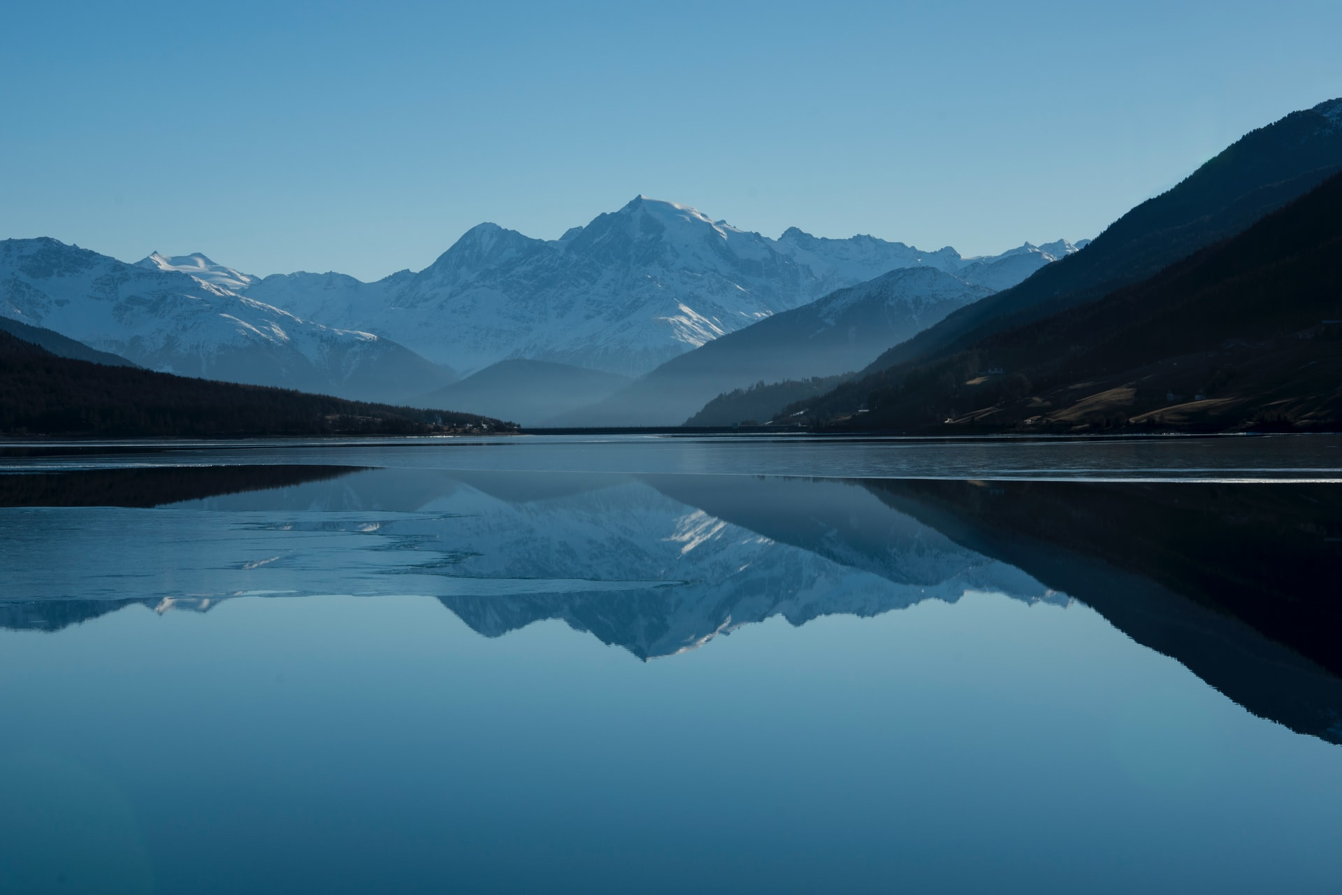 Mountains Reflected on Water
